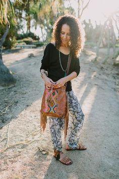 Boho Gift Girlfriend, Leather Fringe Bag, Leather Bucket Bag, Leather Drawstring Bag, Boho Fringe Bag, Leather Crossbody, Boho Festival Bag, Boho Chic Bag, Moroccan Bag, Boho Carpet Bag, Grace Design, Kilim Bag