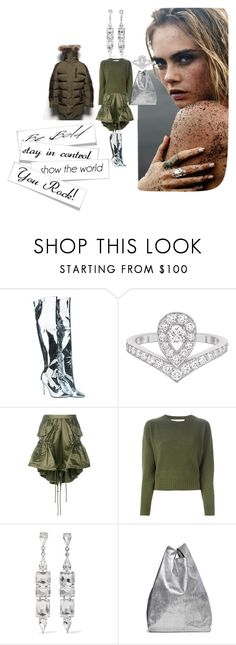 """""""Something Different"""" by michelle858 ❤ liked on Polyvore featuring WithChic, Priti NYC, Chaumet, Moschino, Marni, Kenneth Jay Lane, Maison Margiela, Winter and winterstyle"""