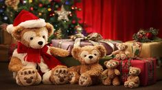 One can find the Christmas bear in a number of sizes and colors in the local…