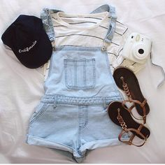 Cute teen outfit for school //brandy overalls                                                                                                                                                     More