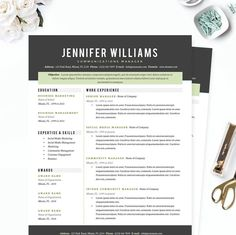 Communications Resume Template Impressive 3 Stylish Resume Templates For Microsoft Word For The Price Of 1 .