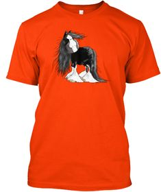 Gentle Giant Shire Horse Cartoon Baby To Orange T-Shirt Front