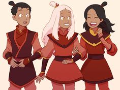 More headcanons for the opposite element AU - Sokka, Katara and Yue grew up together and are close friends. In this AU Yue's name is Hinata (meaning 'facing the sun') because of the sun's importance to the Fire Nation.