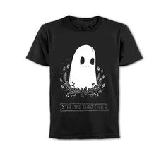 Sad Ghost Club // Front Print Tee. PRE ORDER by LizeMeddings