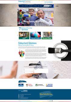 Colourtech Solutions #Website #Weblayout #Webdesign #Inspiration #Web #Layout