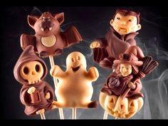 Come fare dolcetti di Halloween con decoStick - How to make Halloween chocolate lollipops - YouTube