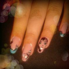 Sweet girlish gel nails