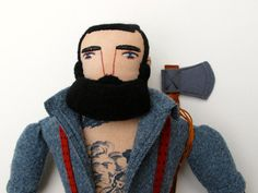 tattooed man with beard por MimiKirchner en Etsy