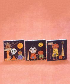 Look at this Whooterville Pumpkin Peep Plaque - Set of Three on #zulily today!
