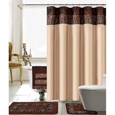 croscill magnolia shower curt   cortinas de ducha, cortinas y