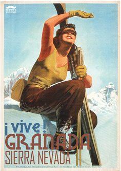 Val D' Aosta Aosta Valley Italy Winter Sport Woman Sun Ski Vintage Poster Repro Ski Vintage, Vintage Ski Posters, Retro Poster, Vintage Italian, Vintage Horror, Vintage Stuff, Ski Europe, Old Posters, Movie Posters