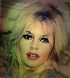 Brigitte Bardot / Digital art - Free size