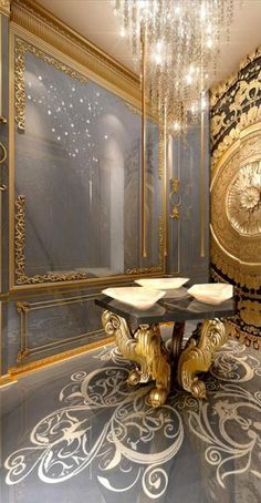 Luxury furniture. Dramatic interior. Gold and black decor. For more inspirational news take a look at: www.aussieliving.net