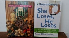 Lot of 2 WEIGHT WATCHERS Diet Books Slim Ways With PASTA & She Loses, He Loses