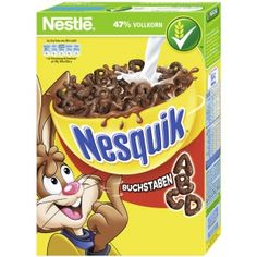 -in USA- Nestle Nesquik Alphabet breakfast cereal- 325 g Cadbury Chocolate Bars, Milka Chocolate, Vintage Recipes, Vintage Food, Discontinued Food, Kids Cereal, Hershey Syrup, Around The World Food, Snack Recipes