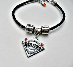 Check out this item in my Etsy shop https://www.etsy.com/listing/265306375/sf-giants-baseball-braceletsf-giants