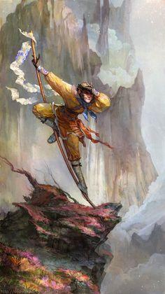 """Sun Wukong también conocido como el """"rey mono""""."""