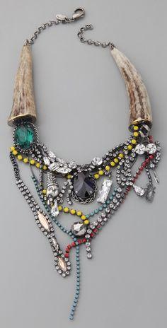 Reminds me of a YSL bag  http://www.shopbop.com/fused-stone-deer-horn-necklace/vp/v=1/845524441924926.htm?folderID=2534374302024617&fm=other-shopbysize-viewall&colorId=17798