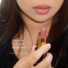 Tom Ford Lipstick in Indian Rose.perfect for someone who wants lip color but never wears lipstick. No color shock Tom Ford Lipstick, Mauve Lipstick, Lipstick Colors, Lip Colors, Lipstick Swatches, Wedding Lipstick, Wedding Hair And Makeup, Hair Makeup, All Things Beauty