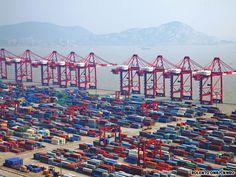Port of Shanghai China Container Terminal: Volume 2010, 29.07 (Million TEUS), Volume 2010, 31.74 (Million TEUS).