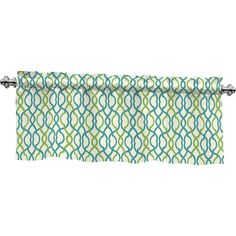 Features:  -Make Waves collection.  -Material: 67% Poly / 33% cotton.  -Sold as a single valance.  Product Type: -Curtain valance.  Material: -Cotton/Polyester.  Design: -Tailored. Dimensions:  -Rod p