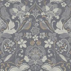 Folk Floral Grey wallpaper by Arthouse