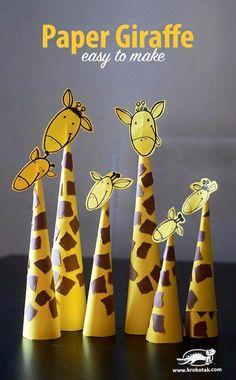 Paper Giraffes – so easy to make Basteln mit Papier - Tiere basteln - diesmal Giraffen. Paper Giraffes – so easy to make Basteln mit Papier - Tiere basteln - diesmal Giraffen. Animal Crafts For Kids, Paper Crafts For Kids, Toddler Crafts, Hobbies And Crafts, Projects For Kids, Diy For Kids, Easy Crafts, Diy And Crafts, Craft Projects