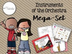 Looking for ways to teach about instruments of the orchestra and/or instrument families? Try this mega-set!