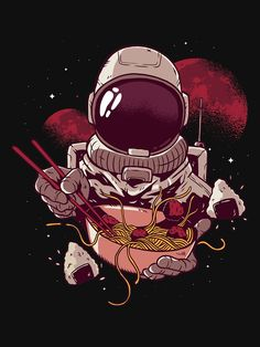 Wall Prints, Poster Prints, Astronauts In Space, Great Gifts For Men, Bowl Designs, Print Artist, Japanese Art, Japanese Food, Cool Artwork