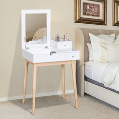 Acadia Dressing Table with Mirror Norden Home My New Room, My Room, Dressing Table Desk, Dressing Mirror, Small Dressing Table, Design Tisch, Dream Rooms, Room Inspiration, Bedroom Decor