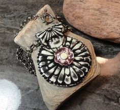Magic Light Daisy - European Style Jewelry - Real Porcelain Pendant Necklace…