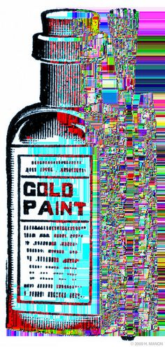 Glitch Art: gold paint by eaubscene, via Flickr