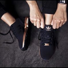 iOS! Looking NOT selling ! Looking for these black & gold adidas Adidas Shoes Athletic Shoes