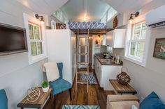 Interior of a Driftwood tiny house