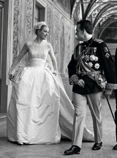 Which Grace Kelly inspired dress did you like better- Kate's or Ivanka's? :  wedding Grace Kelly Wedding Dress Helen Rose, Royal Wedding Gowns, Royal Weddings, Wedding Dresses, Princess Wedding, Real Princess, Royal Brides, Royal Family News, Monaco Royal Family