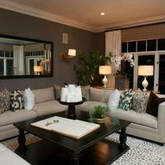 Nice, traditional living room maximizes space and color
