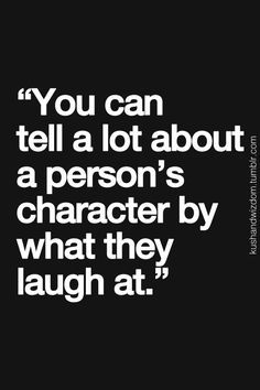 Yikes! Major character flaws!