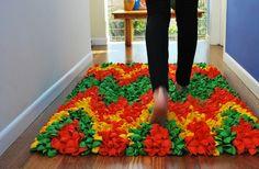 decoro sin decoro: Una alfombra de globos