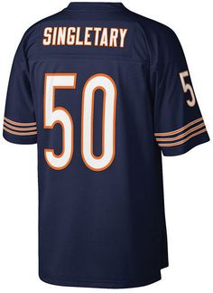 Mitchell  amp  Ness Men s Mike Singletary Chicago Bears Replica Throwback  Jersey Mike Singletary b2ee7bb80