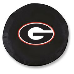 Georgia Bulldogs Black Tire Cover w/ Security Grommets