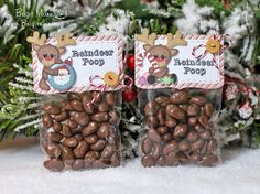 Reindeer Poop!  Jaded Blossom Stamps, Trendy Twine, Stinkin' Cute Paper Piercing, Christmas, Treat Bags
