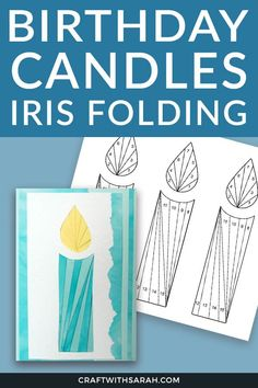 Make an easy birthday card using this candles iris folding pattern. Iris Folding Templates, Iris Paper Folding, Iris Folding Pattern, Applique Templates, Applique Patterns, Owl Templates, Felt Patterns, Crochet Patterns, Butterfly Template