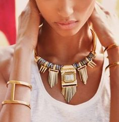 roman statement necklace, Greco-Roman and Egyptian jewelry http://www.justtrendygirls.com/greco-roman-and-egyptian-jewelry/