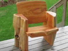 Log furniture: