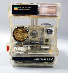 Polaroid 600 Land Camera / Autofocus 660  My fav camera, sonar tech! And in clear! <3