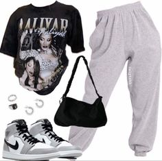 Swaggy Outfits, Baddie Outfits Casual, Swag Outfits For Girls, Cute Casual Outfits, Stylish Outfits, Tomboy Fashion, Teen Fashion Outfits, Mode Outfits, Retro Outfits