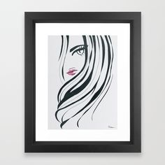 Buy Girl Power Black and White Framed Art Print by lorimoro. Worldwide shipping available at Society6.com. Just one of millions of high quality products available.