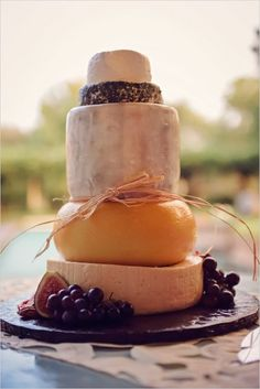 cheese tower fall wedding cake