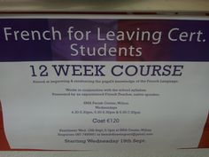 French for Leaving Cert. French Language, It Works, Knowledge, Study, Teacher, Education, School, Consciousness, Studio