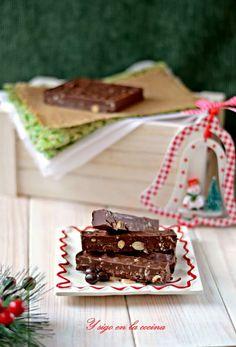 y sigo en la cocina: Turrón de de chocolate con Conguitos y Krispies